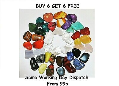 Healing Crystals Reiki Chakra 10 - 20mm Buy 6 get 6 FREE Crystals UK seller