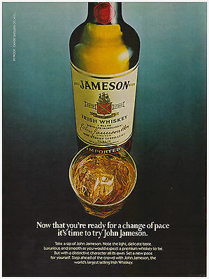 Original 1982 Jameson Irish Whiskey Vintage Print Ad