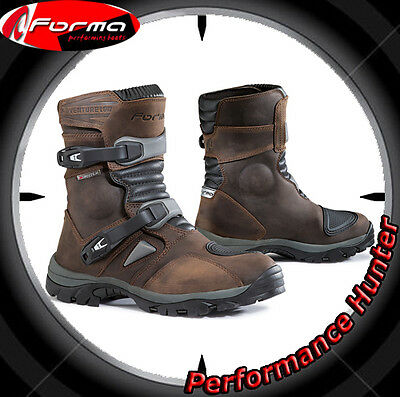 Bottes Chaussures Moto Forma Waterproof Atv Quad Adventure Low Brown Tg: 43