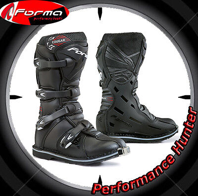 Bottes Chaussures Moto Forma Off Road Mx Cougar Black Tg: 32