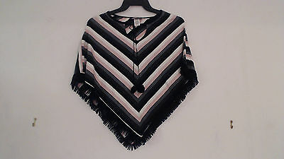New Zoey & Beth Girl's Acrylic Poncho Sweater Cover Up One Size XS S M L XL