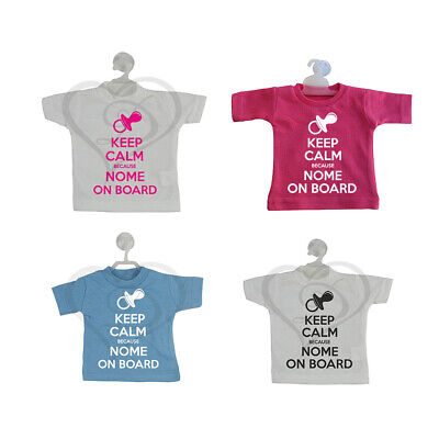 Mini T-Shirt Auto Keep Calm Nome On Board Bimbo Bimba A Bordo Personalizzata