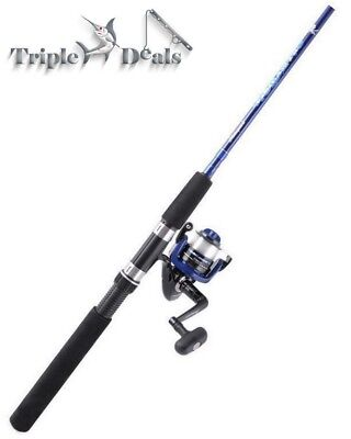 New Shakespeare Vigilante 2 Pce Fishing Rod and Reel Combo-Spin Combo with Line