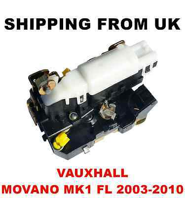 Central Door Lock Motor Actuator Front Right Vauxhall Movano Mk1 Fl 2003-2010