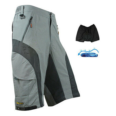 Cycling MTB Shorts Detachable Liner Underwear Padded Leisure Bike Bicycle Pants
