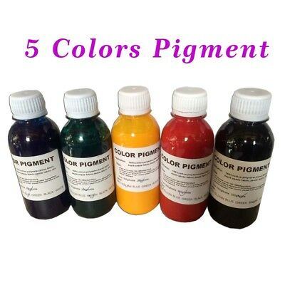 5 color Pigment for Silk Screen Printing Press 200g/Bottle