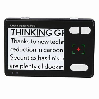 "Portable 3.5"" LCD Low Vision 2-24X Reading Aid Electronic Video Magnifier Out"