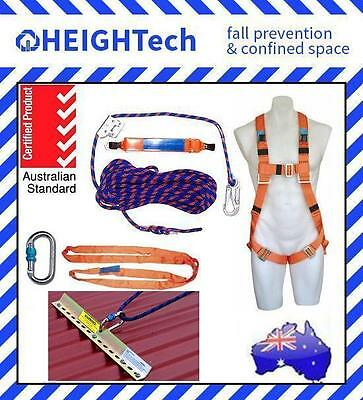 15m Roofing Roofers Work Harness Fall Arrest Access Safety Kit with Roof Anchor