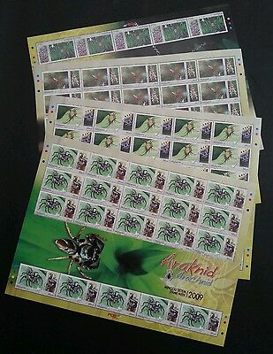 Arachnid Spider Insect Malaysia 2009 Animal (sheetlet) MNH *rare