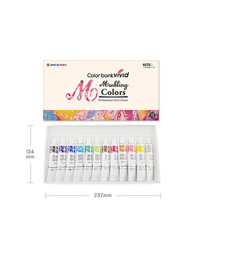 Water Marbling Paint 12 Colors Tube Set / 12ml Marble kit