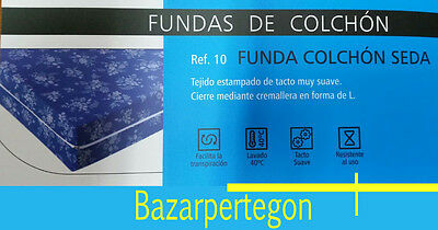 Funda colchon estampada, tacto suave, cremallera, mattress Cover Matratzenschone