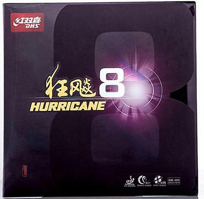Original DHS Hurricane 8 table tennis rubber/ ping pong rubber    Red