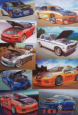 "TRD Toyota Racing Dept POSTER 23""x34"" CARS MOTOR Japan Sports Formula 9 Models"