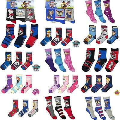3 pairs Boys Girls Kids Character Socks UK3-5.5 6-8.5 9-12 12.5-3.5 EU 22-34