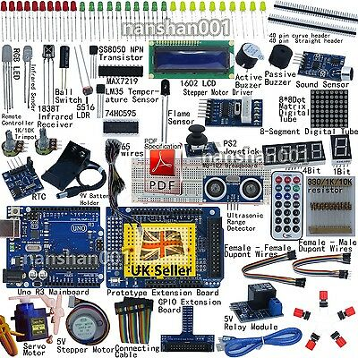 UNO R3 Starter Kit for Arduino 1602LCD Servo Ultrasonic Motor Relay UK Shipping