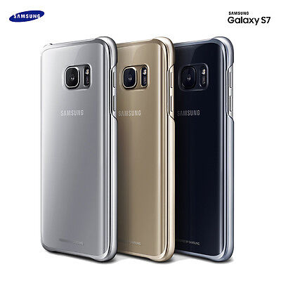 Genuine Samsung Galaxy S7 Crystal Clear Back Cover Bumper Cell Mobile Phone Case