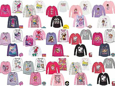 Girls Kids Disney Character Long Sleeve T-Shirt Top age 2-12 year  Xmas gift