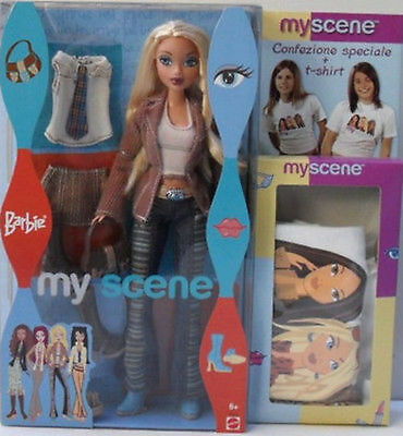 Barbie My Scene - Barbie + T-Shirt - Bambole Originali Mattel B3214