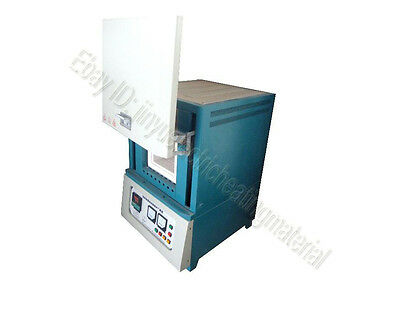 "1400℃ 9.5""×6""×6"" Box Muffle Chamber Heating Oven Benchtop Digital Lab Furnace"