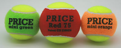 Price's Mini Tennis Training Balls For Children and Beginners (Set of 3 balls)