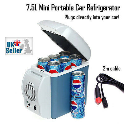 7.5L Mini Portable Car Van 12V Freezer Refrigerator Warmer Fridge Travel Camping