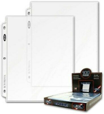200 BCW 1-Pocket 8.5 x 11 Photo / Magazine / Document Pages 8.5x11 binder sheets