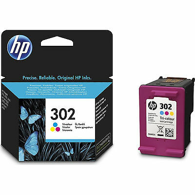 New Genuine HP 302 Colour Ink Cartridge for Deskjet 1110 2130 3630 F6U65AE
