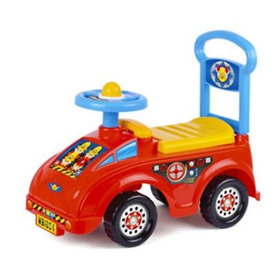 Push Along Smart Ride On Car Fire Engine Truck Walker Toy With Under Seat Storag