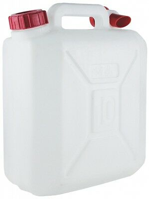 PE-LD 10 Litre Jerry Can White With Carry Handle - Yellowstone