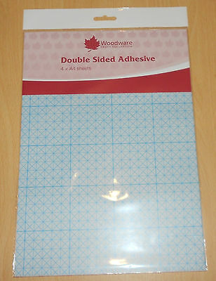 4 x A4 sheets DOUBLE SIDED ADHESIVE SHEETS by Woodware   as used on TV