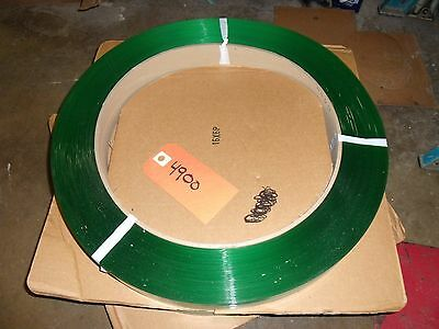 """Polyester Strapping - 1⁄2""""x.020"""" x 3,600' Roll, Green Plastic Banding Packaging"""