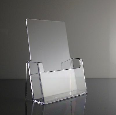 25 Clear Acrylic Half Page Brochure Display Stands wholesale FREE US SHIPPING