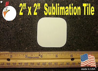 "UV-PRO! High Gloss Aluminum 2"" x 2""  TILE -- Dye Sublimation Blanks - 20 pieces"