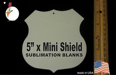 "UV-PRO! High Gloss Aluminum 5"" SHIELD -- Dye Sublimation Blanks - 30 pack"