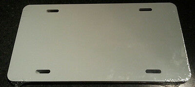 """10 Pieces ALUMINUM LICENSE PLATE SUBLIMATION BLANKS 6"""" x 12"""" / NEW BEST QUALITY"""