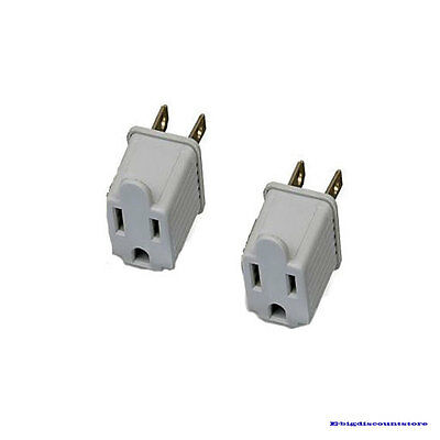 3 to 2 prong AC ground power outlet adapter 2 Pcs AC125V/15A/1875W NEW!!!