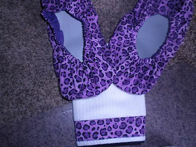 Purple Animal Print  Bowling Shoe Covers-- & Fibre Towel