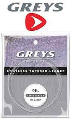Greys Greylon Knotless Tapered Leaders - 9ft Tippets