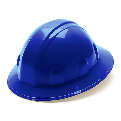 Pyramex Hard Hat Blue FULL BRIM With 4 Point Ratchet Suspension, HP24160