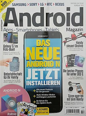 Android Magazin 3/16 Mai/Juni 2016 mit DVD!!! ungelesen  1A absolut TOP