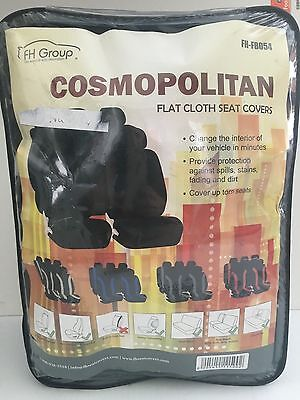 Cosmopolitan flat cloth seat covers FH-FB054  BLACK (ab-52)