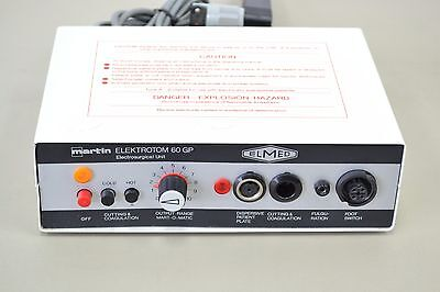 Elmed Martin Elektrotom 60 GP Coagulation Cutting Electro Surgical Unit (11740)