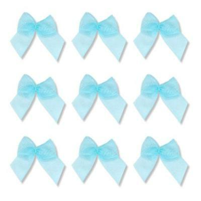 Buddly Crafts 12mm Sheer Organza Ribbon Bows 10pcs