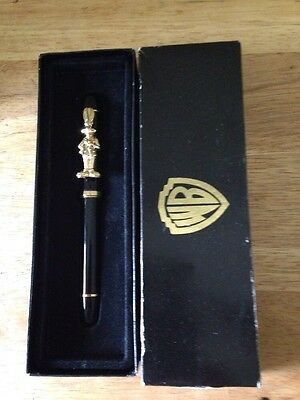 Vintage WB Bugs Bunny Pen GOLD Heavy & Gorgeous!!!!! With Box!!! Rare!!