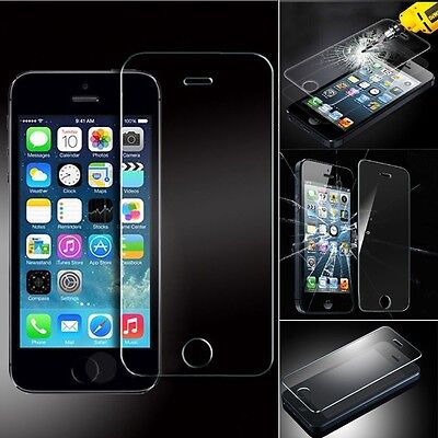 New Premiuim Quality Temperd Glass Screen Protector For Iphone 5 5C 5S Uk 5 5S 5