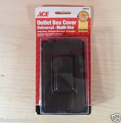 Ace Bronze Universal All-Weather Exterior Outlet Box Cover Vertical & Horizontal