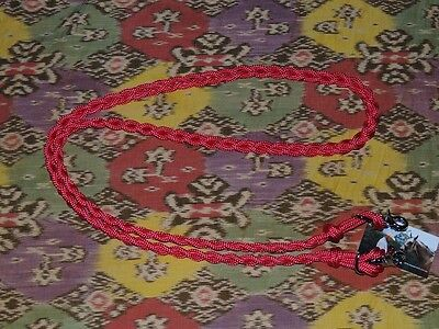 Shetland /small pony plaited marine rope reins, RED,1.9mts,removable clips