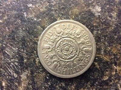 Great Britain Two Shilling Coin 1966