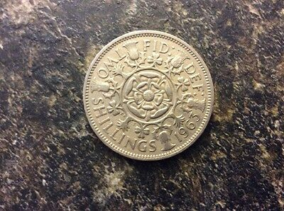 Great Britain Two Shilling Coin 1963