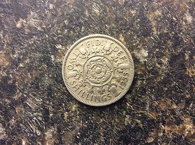 Great Britain Two Shilling Coin 1955
